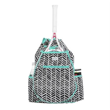 Ame and Lulu Kingsley Tennis Back Pack - Black Shutters Print
