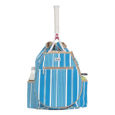 Ame and Lulu Kingsley Tennis Back Pack - Ticking Stripe Print
