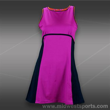 Tail Grand Victory Fitted Dress -Fuchsia