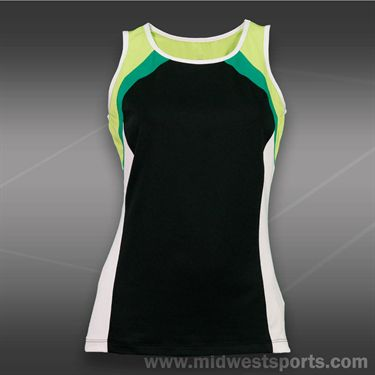 Tail Stadium Ace Scoop Neck Tank-Black