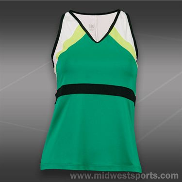 Tail Stadium Ace V Neck Tank-Emerald