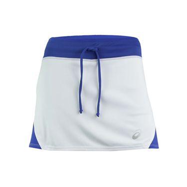Asics Spin Slice Skirt - White/Royal Blue