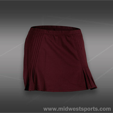 Tail Divine Wine Pin Tuck Skirt