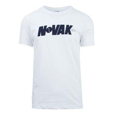 Lacoste Novak Tee - White/Navy Blue
