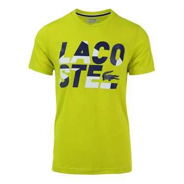 Lacoste Color Block Graphic T Shirt - Soda Yellow