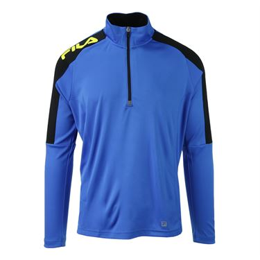 Fila Zephyr 1/4 Zip Top - 80s Blue/Black/Blazing Yellow