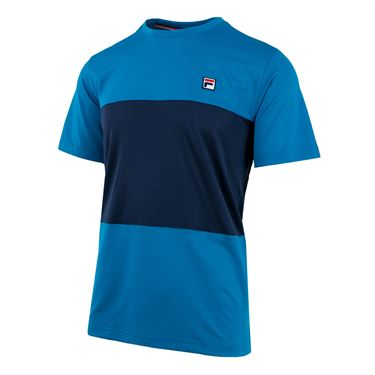 Fila Heritage Colorblocked Crew - Turkish Tile/Navy