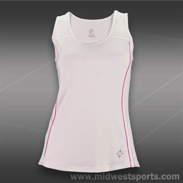JoFit Lanai Rally Tennis Tank-White