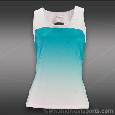 Fila Baseline Sleeveless Tank-Aqua Mint/White