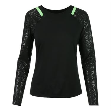Fila Spotlight Long Sleeve Top - Black/Lime Tonic