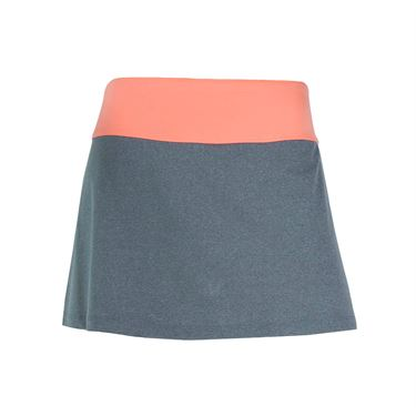 Fila Game Day Skirt - Charcoal Heather/Fiery Coral