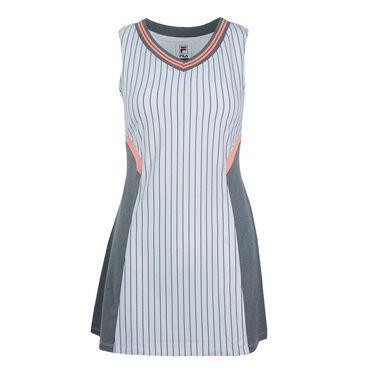 Fila Game Day Dress - White Pinstripe