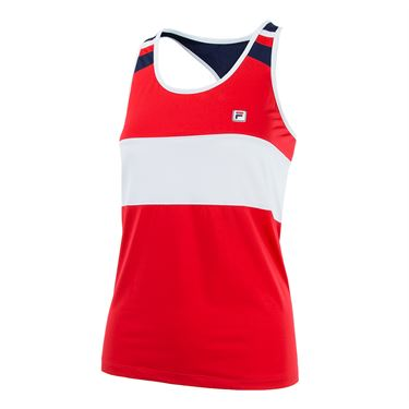 Fila Heritage Loose Fit Tank - Red/White/Navy