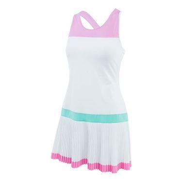 Fila Elite Pleated Dress - White/Lilac/Ice Green