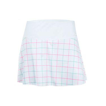 Fila Windowpane Flirty Skirt - White/Windowpane Print