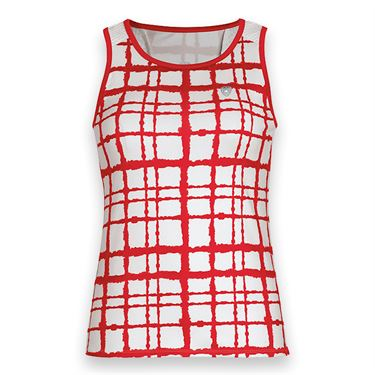 DUC Absolute Printed Tank - White/Red