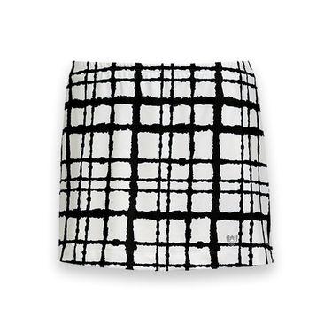 DUC Chaos Printed Tennis Skirt - White/Black