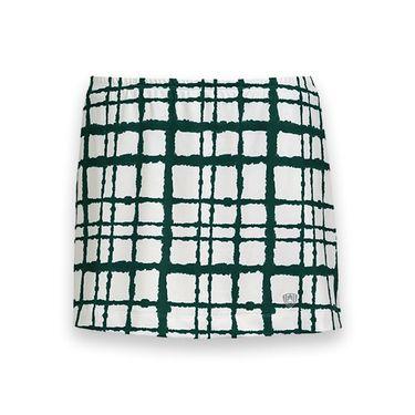 DUC Chaos Printed Tennis Skirt - White/Pine