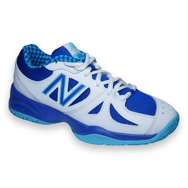 New Balance WC696PU (D) Womens Tennis Shoe-Paradise/UV Blue
