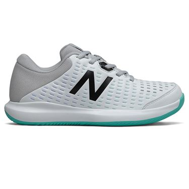 New Balance 696v4 (D) Womens Tennis Shoe - White/Grey/Blue