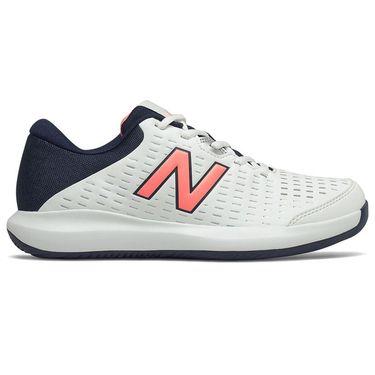 New Balance 696v4 (B) Womens Tennis Shoe - White/Black/Pink