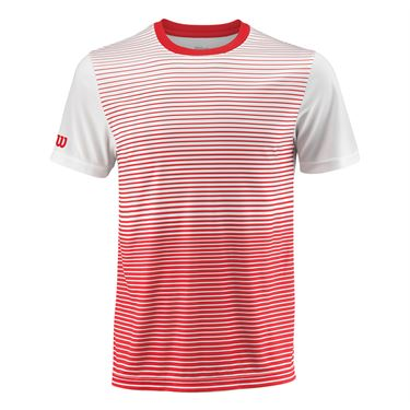Wilson Team Striped Crew - Wilson Red