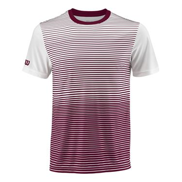 Wilson Team Striped Crew - Cardinal/White