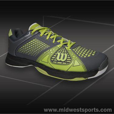 Wilson Rush NGX Mens Tennis Shoe Graphite/Green Glow WRS318540