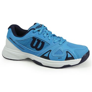 Wilson Junior Rush Pro 2.5 Tennis Shoe - Hawaiian Ocean/White