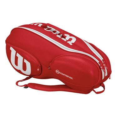 Wilson Pro Staff 9 Pack Tennis Bag - Red/White