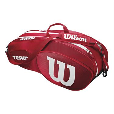 Wilson Team III 6 Pack Tennis Bag - Red