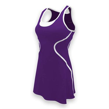 SSI Sophia Tennis Dress - Purple/White