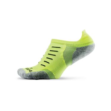 Thorlo Experia No Show Tab Tennis Sock- Electric Yellow