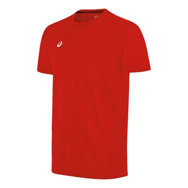 Asics Circuit 8 Warm Up Crew - Red
