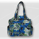 Jet Pac Perennial Sky Quilted Tennis Tote
