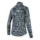 Ibkul Mock Neck 1/4 Zip Long Sleeve - Black/Multi