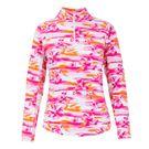 Ibkul Mock Neck 1/4 Zip Jacket - MB Pink
