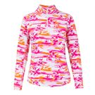 Ibkul Mock Neck 1/4 Zip Jacket - MB Pink
