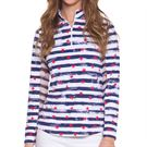 IBKUL Long Sleeve Zip Mock Top Womens Memorial Navy 10862 MNY