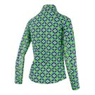 Ibkul 1/4 Zip Sean Jacket - Kelly Green/Navy