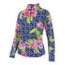 Ibkul 1/4 Zip Ashly Jacket - Navy/Pink