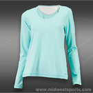 Sofibella Prime Long Sleeve Top-Aqua