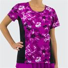 Jerdog Hidden Charms Sleeved Spin Tank - Berry Print/Black