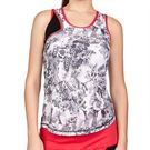 Sofibella Match Point High Neck Tank Womens Vintage Floral/Black/Berry Red 1960 VFL