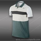 Nike Dri Fit Touch Stripe Polo-Lt.Vintage Green