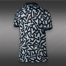 Nike Advantage Printed Polo-Black