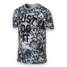 Nike Dri Fit Camo JDI Crew - Pure Platinum/Black