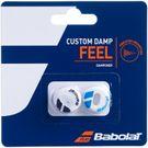Babolat Custom Damp Vibration Dampener - White/Blue