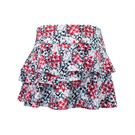 Bolle Checkmate Flounce Tier Skirt - Bolle Red