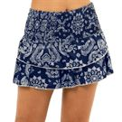 Lucky in Love Peace Out Bandana Smocked Skirt Womens Midnight CB68 C44401